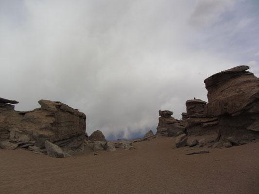 """Die Salvador-Dalí-Wüste (span. Desierto de Salvador Dalí) ist eine etwa 110 km² große Steinwüste inmitten des Nationalparks der Fauna der Anden """"Eduardo Avaroa""""."""