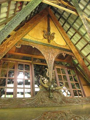 Traditioneller Batak-Dachgiebel.