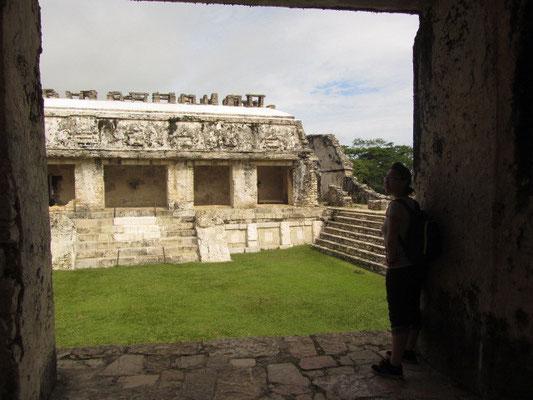 Der Palast besitzt mehrere Innenhöfe, die als Lichtquelle für die umliegenden Räume dienten.