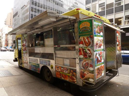 Einer von New York's typischen Foodtrucks.