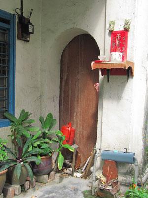 Hauseingang in der Concubine Lane.