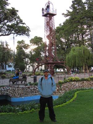 Im Parque Simon Bolivar.
