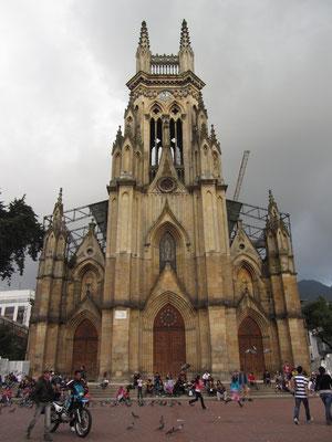 Die Kirche Lourdes in Chapinero.