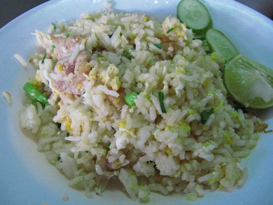 Gebratener Reis mit Hühnchen & Limone.
