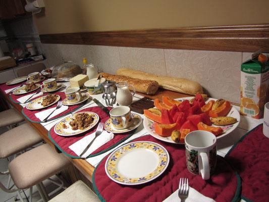 Abschiedsfrühstück. Eine erweiterte Version des traditionellen Frühstücks.