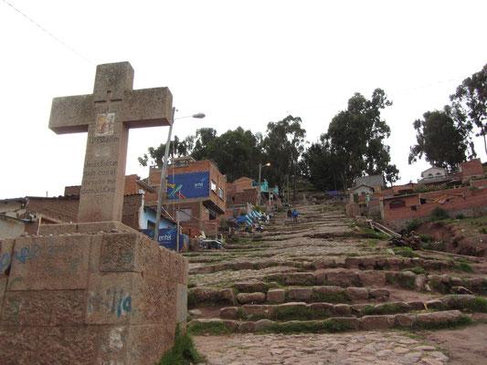 Aufstieg zum Cerro Calvario.