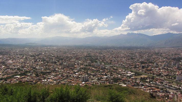 Blick auf Cochabamba.