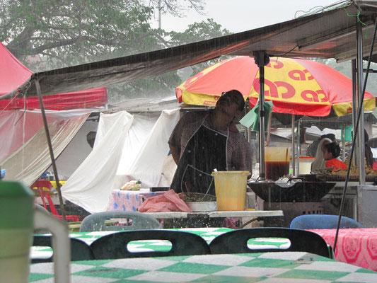 Regeneinbruch auf dem Nachtmarkt.