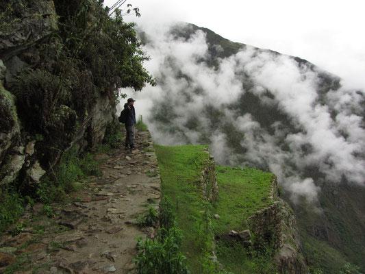 Auf dem Weg zur Inka-Brücke.