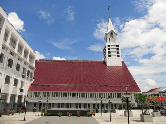 Die Masland Methodisten Kirche neben dem Hoover Suare.