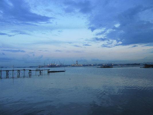 Blick auf Singapur.