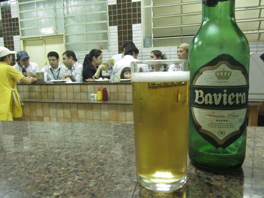 Baviera-Bier in der deutschen Metzgerei.