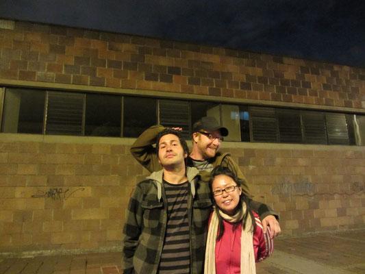 Mit unserem Gastgeber Juan vor der Abfahrt aus Bogota.