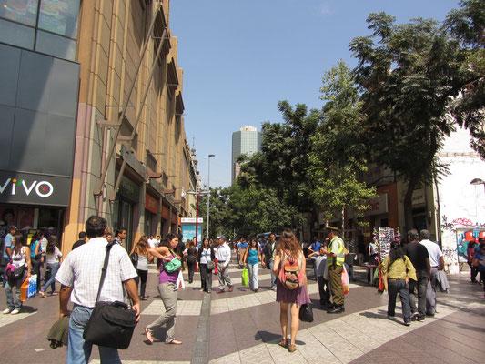 Die Fußgängerzone im Zentrum.