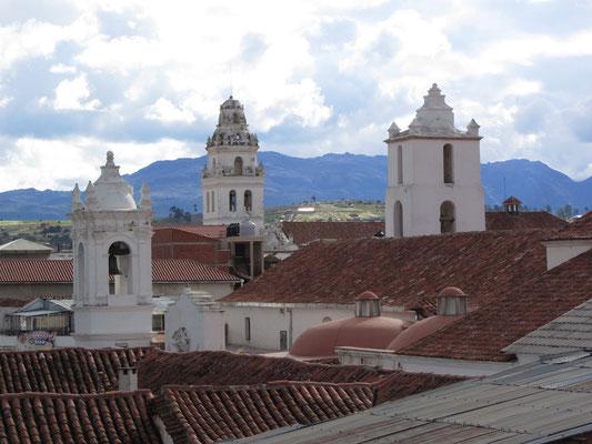 Blick vom Dach unseres Hostals.