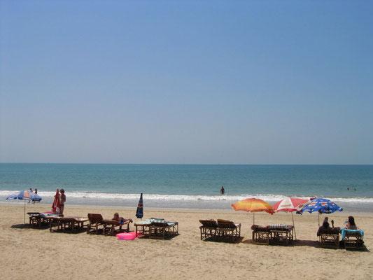 Ein erster Eindruck von Palolems Strand.
