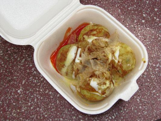 Takoyaki - Octopus ball.