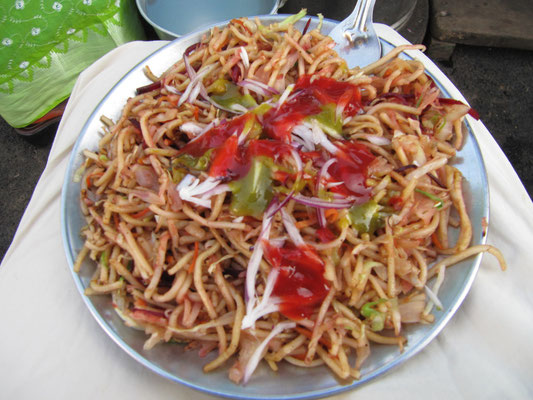 Chow Mein sind chinesische, gebratene Nudeln.