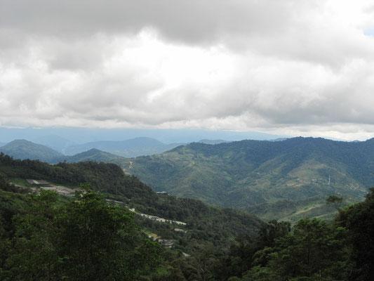 Blick vom Eingtangsbereich des Mt. Kinabalus.