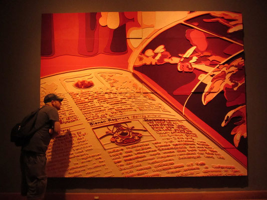 Temporäre Ausstellung im Museo de Artes Visuales.