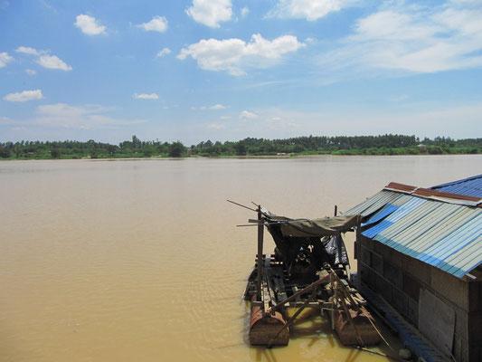 Blick auf den Sungai Kelantan (Kelantan Fluss).