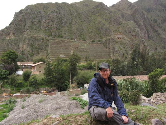 Vor der Inka-Festung.