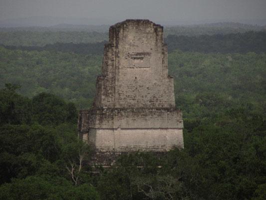 Rückansicht von Templo V. (Blick von Templo IV)