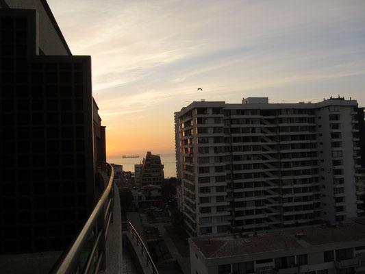 Blick von unserem Balkon.