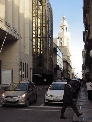 In den Straßen.