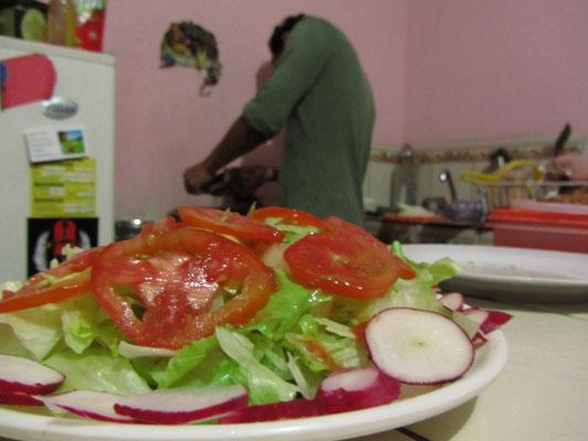 Salat in unserer Wohnküche.