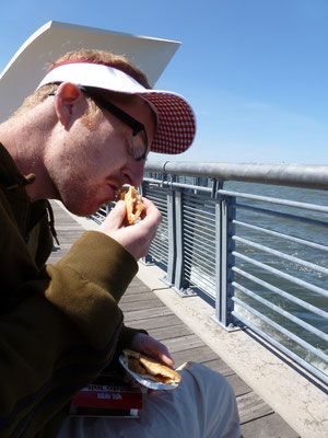 Apple pie on ferry.