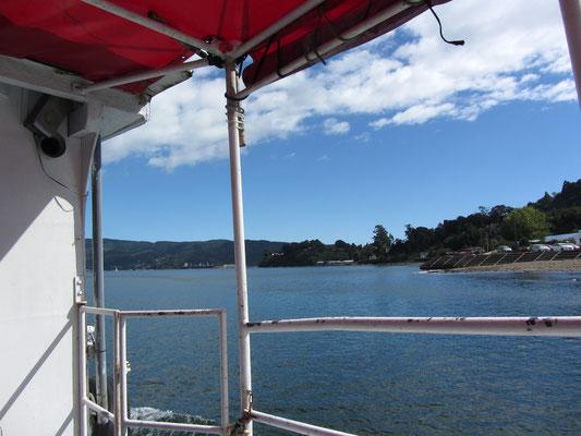 Auf dem Boot zur Insel Corral.