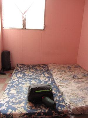 Unser Zimmer. Einfach ausreichend.