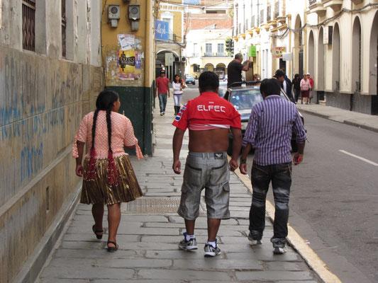 Bolivianische Mode.