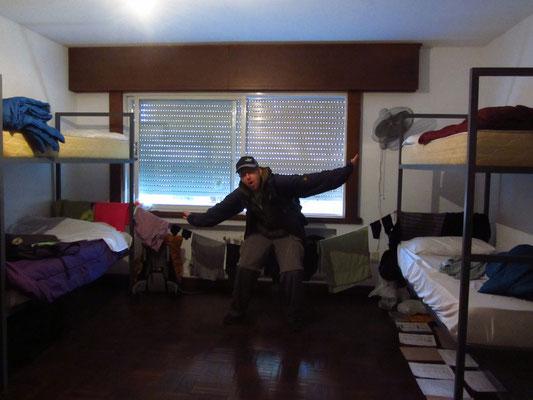 Uruguay ist teuer und wir schlafen daher in einem Vierbett-Zimmer.