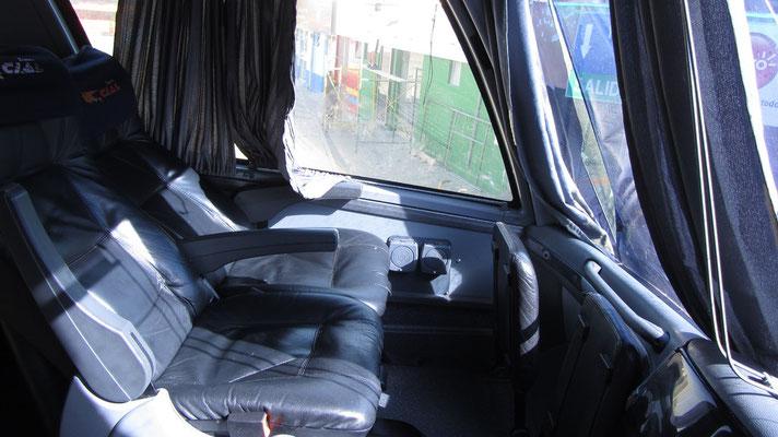 Hohe Qualität zum kleinen Preis. Busfahren in Peru ist sehr komfortabel.