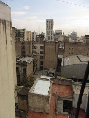 Blick aus dem Fenster unserer Wohnung.