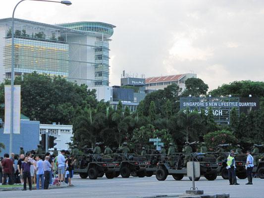 Militärparade.