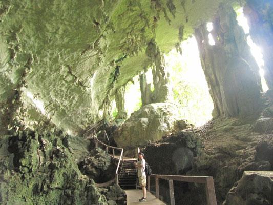 "Ausgang der ""Trader's Cave""."