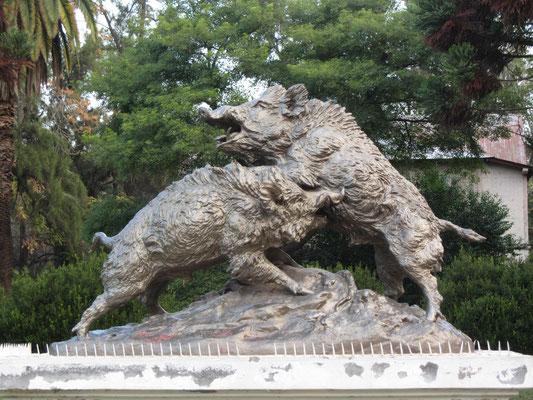 Skulptur am Eingang zum Parque General San Martin.