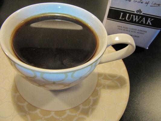Kopi Luwak, der teuerste Kaffee der Welt. (siehe 'MEIN BLOCK')
