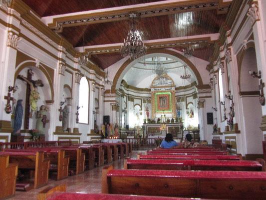 In der Kirche auf dem Cerro de Guadalupe.