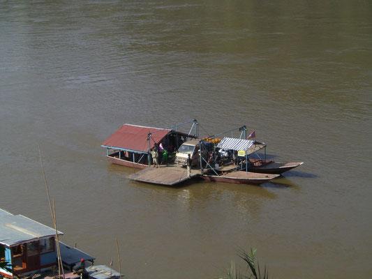 Auf dem Mekong.