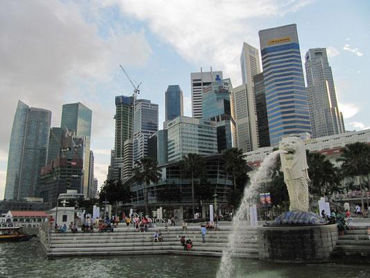 Der/die/das Merlion - Das Wahrzeichen Singapurs. (Marina Bay)