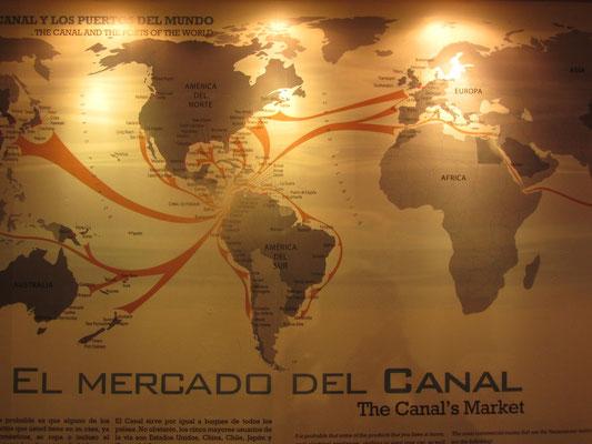 Der Markt des Kanals. Der Kanal ist das Zentrum der Welt. Jedenfalls im Besuchermuseum.