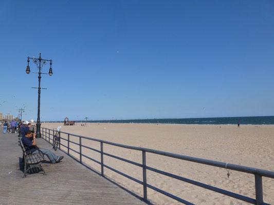 Strand von Coney Island.