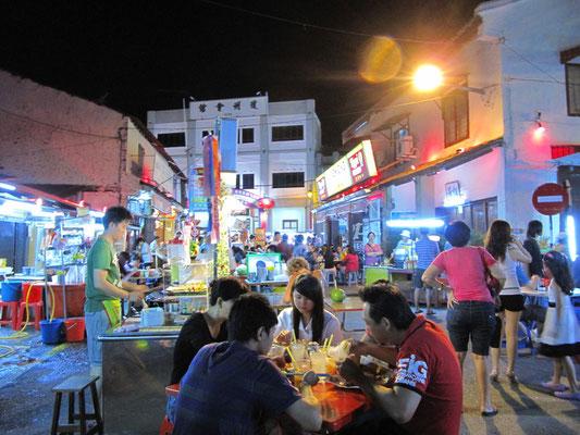 Wochenend-Nachtmarkt.