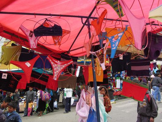 Höschen auf dem Markt.