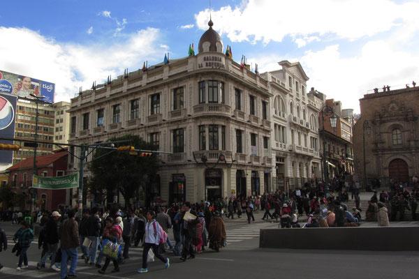 Großstadt La Paz.