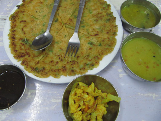 Nepalesisches Omelette ohne Eier.